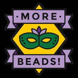mehr Perlen Abzeichen gefärbt