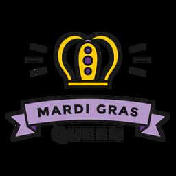 insignia de reina de mardi gras