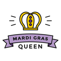 mardi gras queen badge