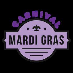 emblema carnaval mardi gras