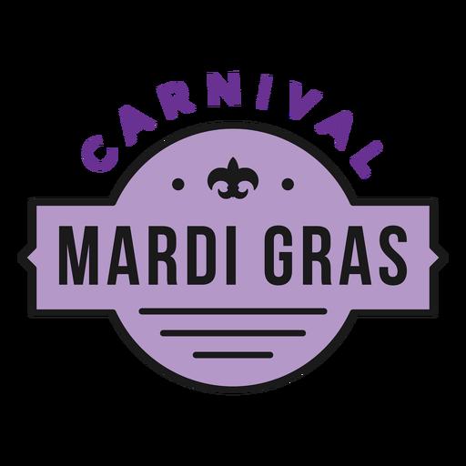 badge carnival mardi gras  Transparent PNG