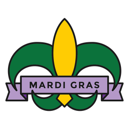 mardi gras badge colored