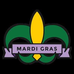 mardi gras badge colored