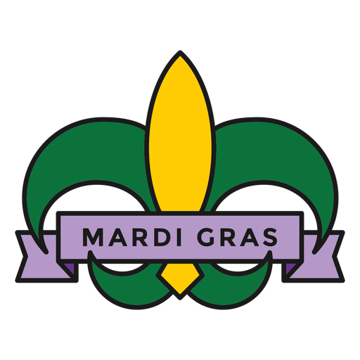 insignia de mardi gras de color Transparent PNG