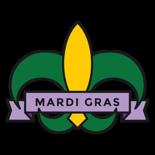 mardi gras badge colored  Transparent PNG