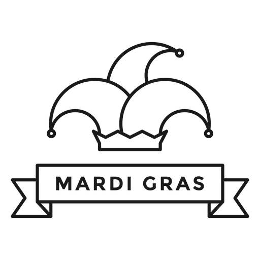 mardi gras hat badge stroke Transparent PNG