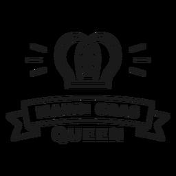 trazo de la insignia de la reina de mardi gras
