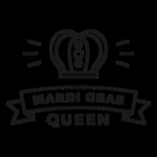curso do emblema da rainha do carnaval Transparent PNG