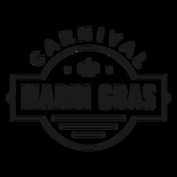 badge carnival mardi gras stroke