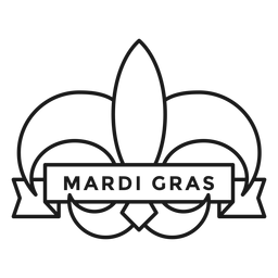 mardi gras badge stroke