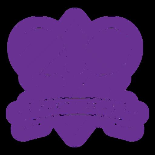 party gras purple maracas badge  Transparent PNG