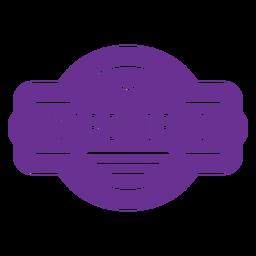 purple mardi gras badge