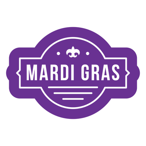 Purple Mardi Gras Badge Transparent Png Svg Vector File