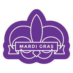 insignia de mardi gras de color púrpura