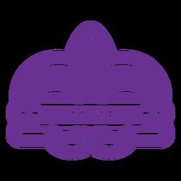 mardi gras badge colored purple