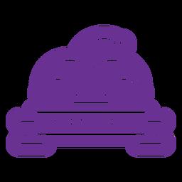 insignia de sombrero de mardi gras púrpura