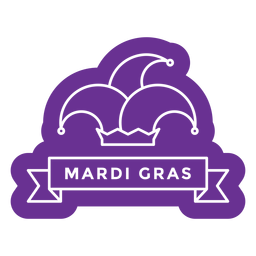mardi gras hat badge purple