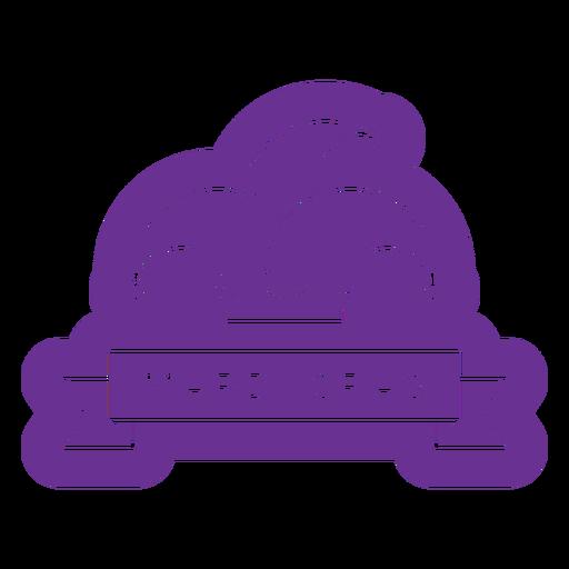 mardi gras hat badge purple Transparent PNG