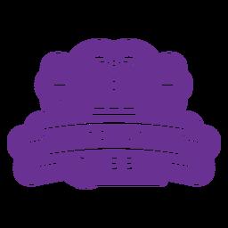 mardi gras queen badge purple