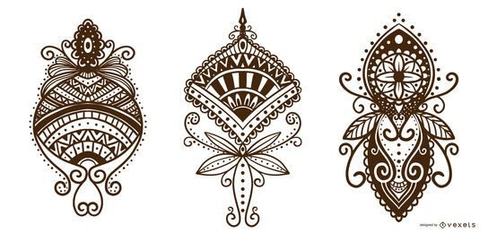 Henna Tattoo Ornamental Design Pack