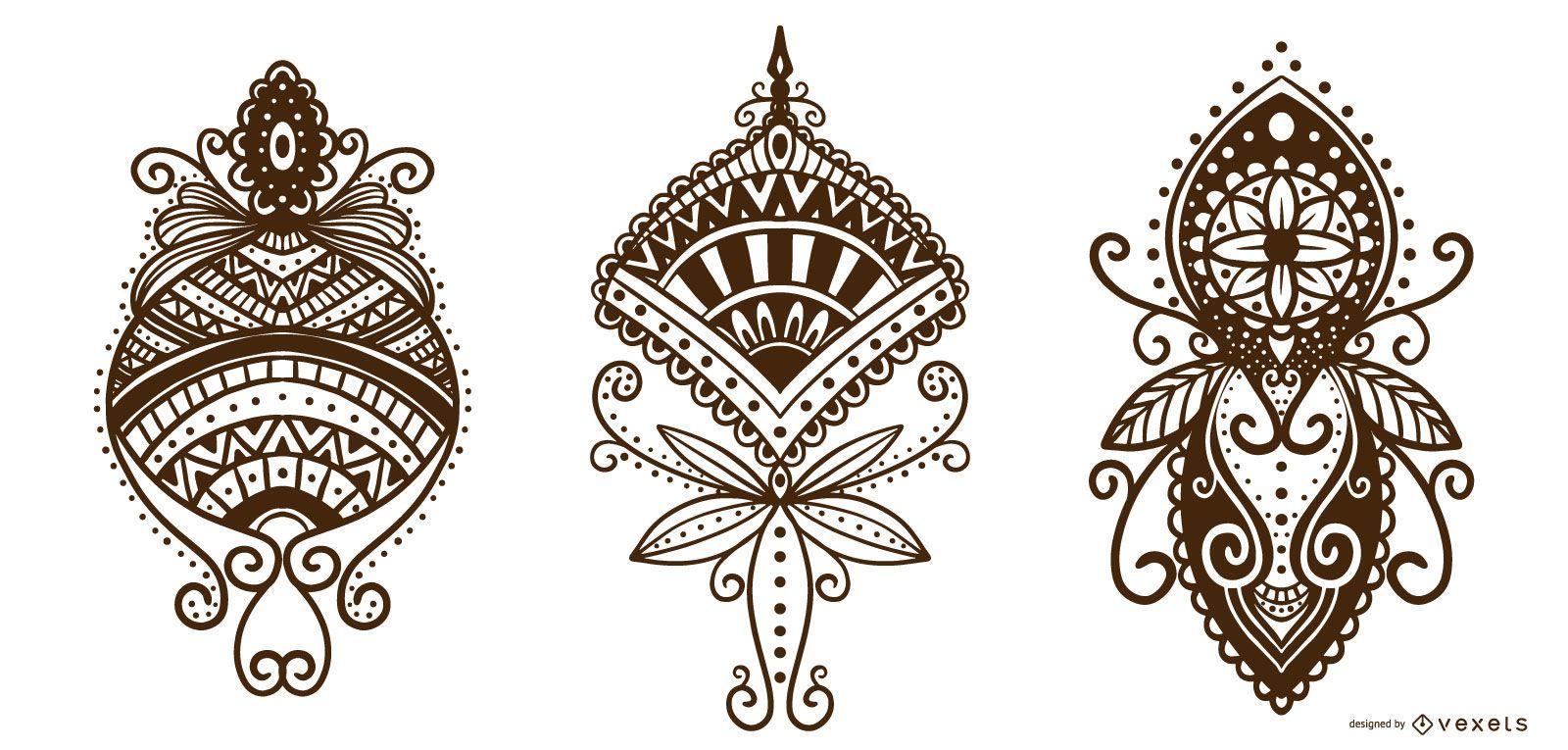 Henna Tattoo Ornamental Design Pack