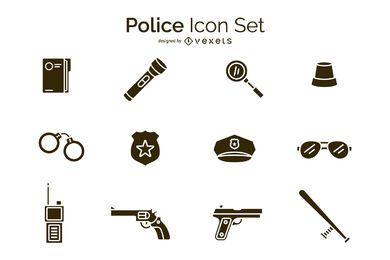 Conjunto de iconos de policía
