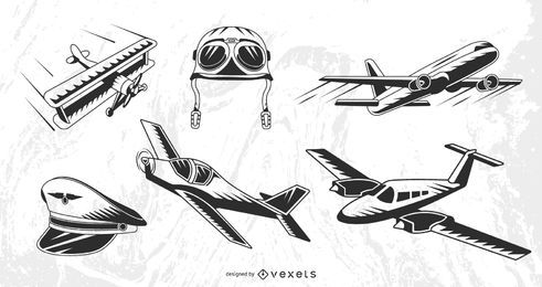 Vintage Flugzeuge eingestellt