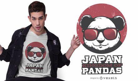 Panda-Königreich-Japan-T-Shirt Entwurf
