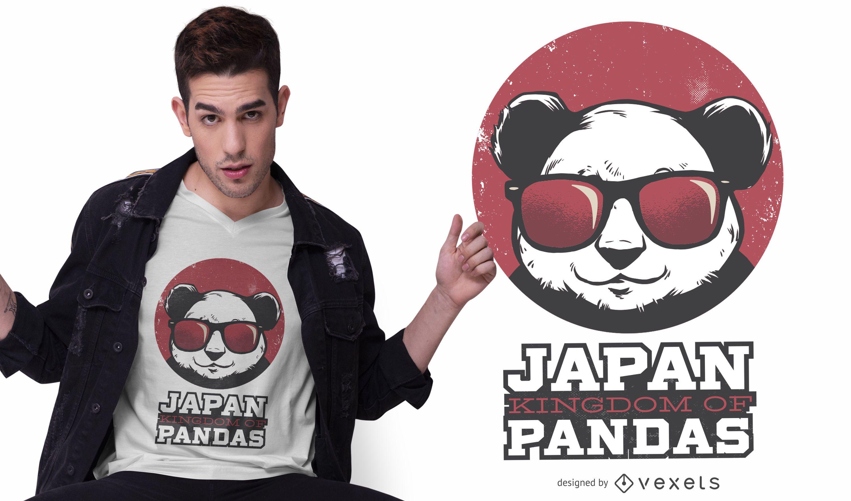 Panda kingdom japan t-shirt design