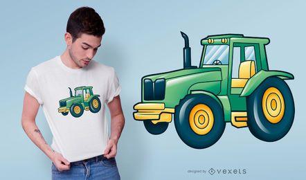 Design de t-shirt de trator