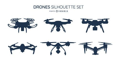 Paquete de diseño de silueta de dron