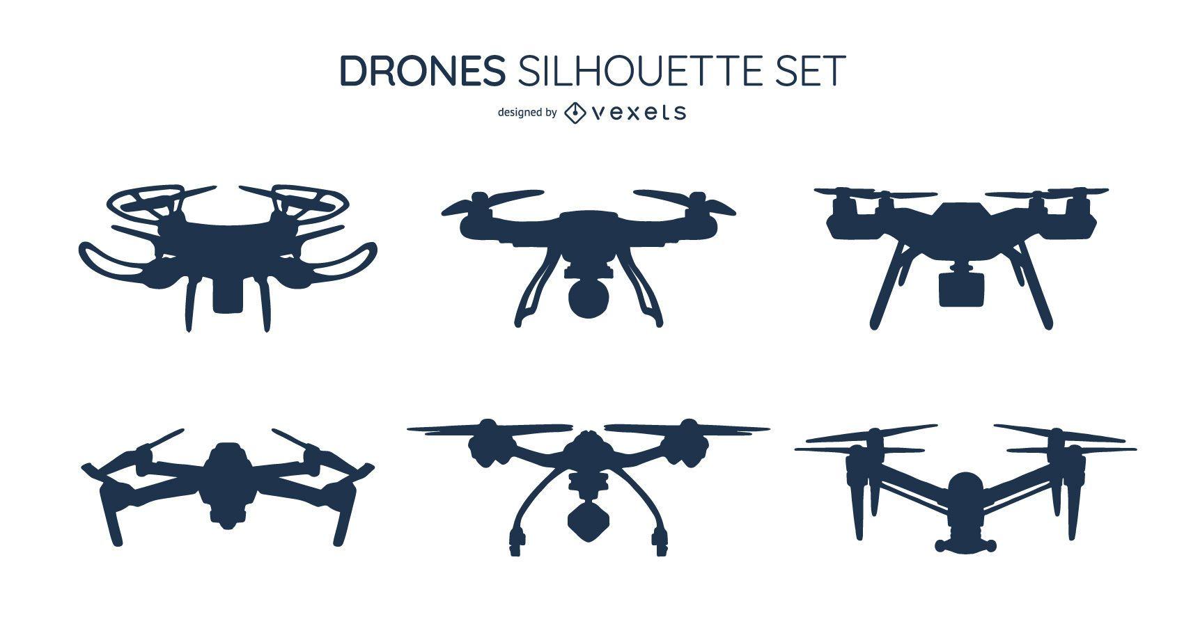 Paquete de dise?o de silueta de drone