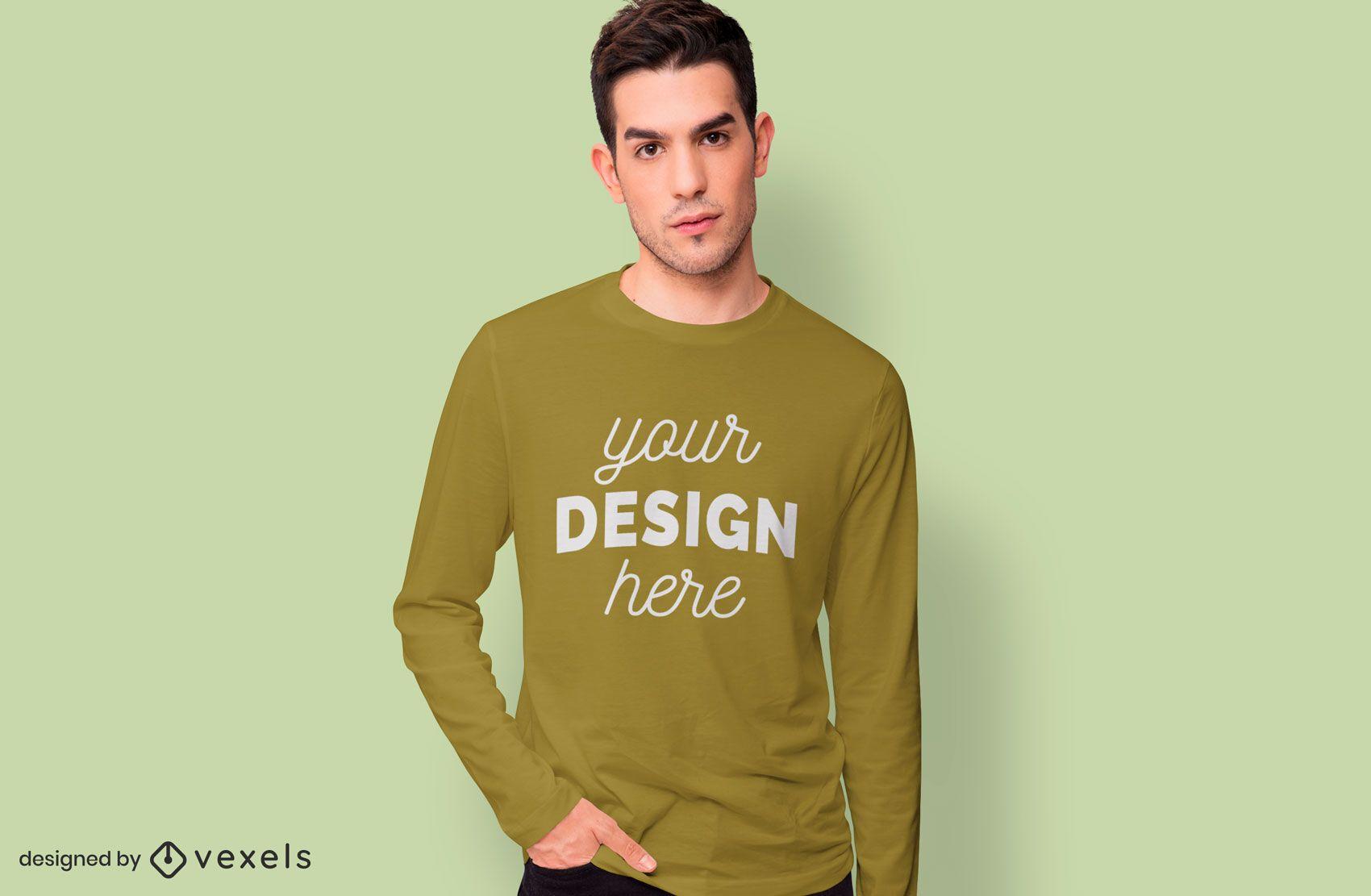 Long sleeves t-shirt mockup