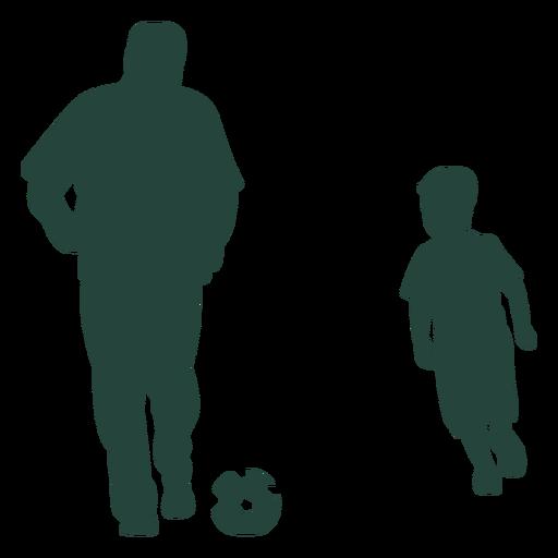 Silueta de juego de fútbol de niño adulto Transparent PNG