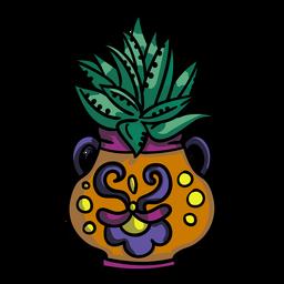 Aloe vera plant pot