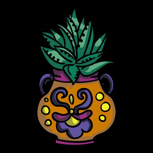 Aloe vera plant pot Transparent PNG