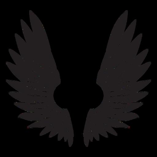 Angel bird wings cut out black