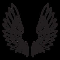 Contorno de alas de pájaro ángel