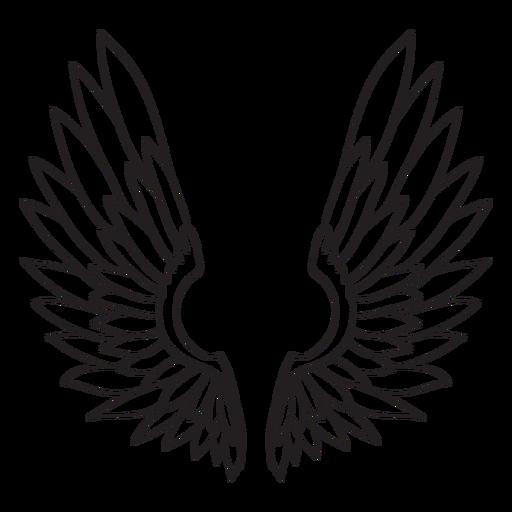Angel bird wings outline Transparent PNG