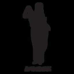 Afrodita dibujado a mano cortado negro