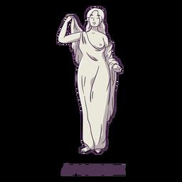 Afrodite desenhada à mão em cinza