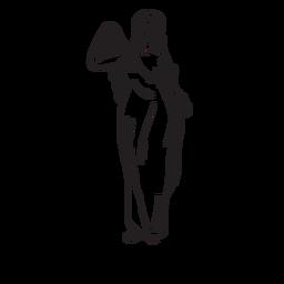 Afrodite mão contorno desenhado