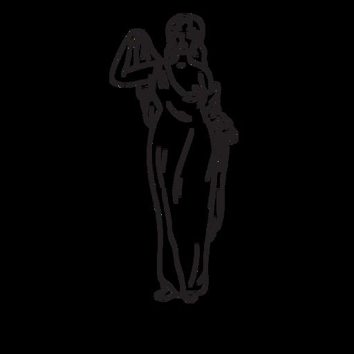 Esquema dibujado a mano de Afrodita Transparent PNG