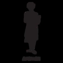 Apollon dibujado a mano recortado negro