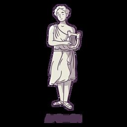 Apollon dibujado a mano gris