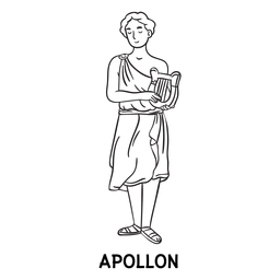 Esquema dibujado a mano Apollon