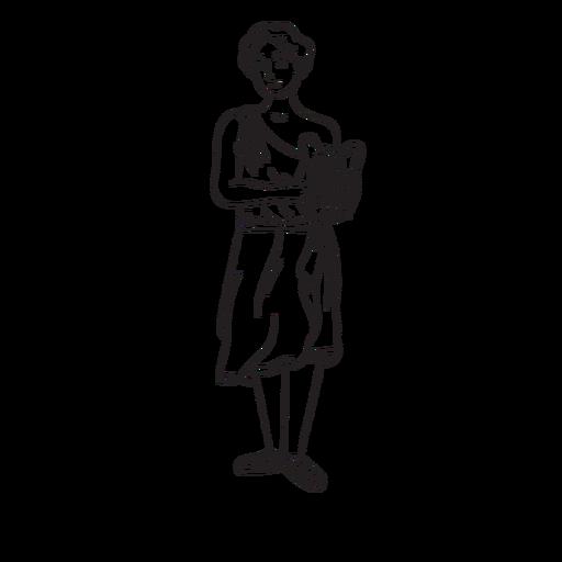 Contorno dibujado a mano Apollon