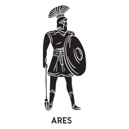Ares mão desenhada cortar preto