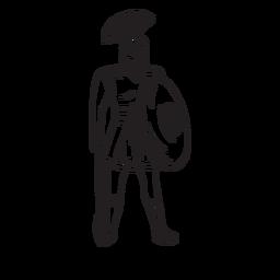 Contorno dibujado a mano de Ares