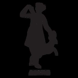 Artemis dibujado a mano cortado negro